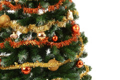 Close up christmas tree Royalty Free Stock Images
