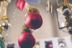 Close-up of Christmas Tree Stock Photography
