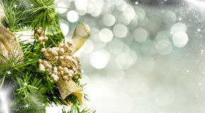 Close up on Christmas tree decoration Stock Photos
