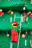 Close-up of A Christmas tree made of Lego blocks Stock Images