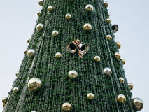 Close-up Christmas tree. The picture that take close-up shot on the Christmas treee Stock Photo