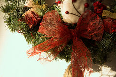 Close-up of a Christmas wreath Royalty Free Stock Photo
