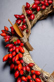 Close-up of Christmas wreath royalty free stock images