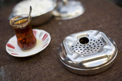 Ashtray and Tea Royalty Free Stock Photography