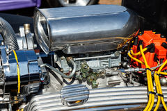 Close-up of chrome blower on car Royalty Free Stock Images
