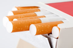 Close-up Cigarette box Royalty Free Stock Photography