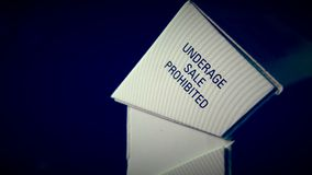Close up of a cigarette box Stock Image