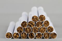 Close-up of cigarettes Royalty Free Stock Image