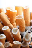 Close up of cigarettes Royalty Free Stock Photo
