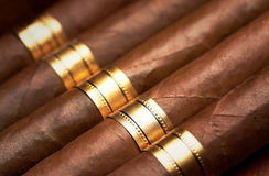 Close up of cigars Royalty Free Stock Images