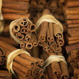 Close up of cinnamon bunches Stock Photography