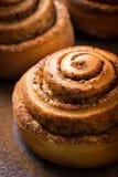 Close up of cinnamon roll bun Stock Photo