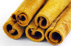 Close up of cinnamon sticks Royalty Free Stock Photo