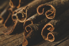 Close up of cinnamon sticks Royalty Free Stock Photography