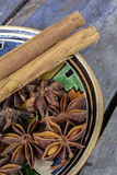 Close-up of cinnamon sticks Royalty Free Stock Photos