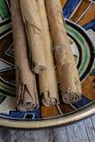 Close-up of cinnamon sticks Stock Image