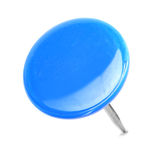 Close up of a circle blue pushpin Stock Photos