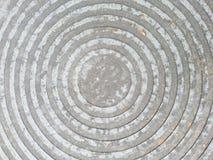 Close up circle metal manhole cover Royalty Free Stock Photo