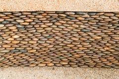 Close up of circle pebble wall Stock Photography
