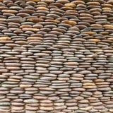 Close up of circle pebble wall Stock Image