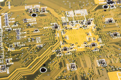 Close up of circuit board Stock Photo