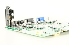 Close-up of circuit pc board Royalty Free Stock Photo