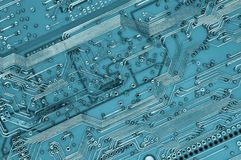 Close-up of circuit plate Royalty Free Stock Images