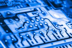 Close up of Circuits Electronic on Mainboard Technology computer background  logic board,cpu motherboard,Main board,sys Royalty Free Stock Photos
