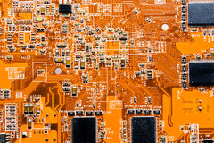 Close up of Circuits Electronic on Mainboard Technology computer background  logic board,cpu motherboard,Main board,sys Stock Photos