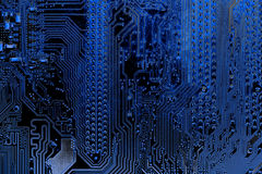 Close up of Circuits Electronic on Mainboard Technology computer background  logic board,cpu motherboard,Main board,sys Royalty Free Stock Images
