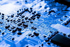 Close up of Circuits Electronic on Mainboard Technology computer background  logic board,cpu motherboard,Main board,sys Royalty Free Stock Photography