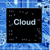 Close up of Circuits Electronic on Mainboard Technology computer background logic board,cpu motherboardCloud. Abstract, close up of Circuits Electronic on Royalty Free Stock Images