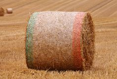 Close up of a Circular Bale of Hay Bale Royalty Free Stock Images