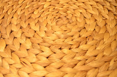 Close up circular ratten wickerwork Royalty Free Stock Photography