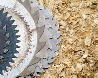 Close up of circular saw Royalty Free Stock Images