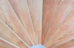 Close up of circular wood staircase Royalty Free Stock Photography