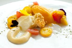 Close up of citrus fruit dessert. Stock Images