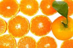 Close-up citrus-fruit of orange slices on white background. Close up slice into orange isolated on white background.Stock photo Stock Image