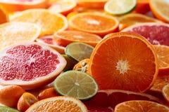 Close up of citrus fruits. Stock Image