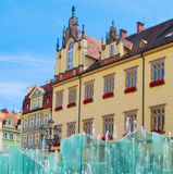Close up of city hall, Wroclaw, Poland Royalty Free Stock Photos