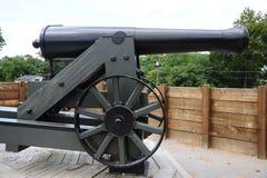 Close-up of a Civil War Era Cannonball Gun. Royalty Free Stock Image