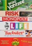 Close up clássico dos jogos de mesa Imagem de Stock