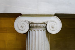 Close up clássico interior da coluna fotografia de stock royalty free