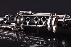Close-up of clarinet. Isolated On Black Background Stock Image