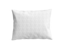 Close up of a clasic white pillow 3d illustration on white   Royalty Free Stock Photos