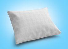 Close up of a clasic white pillow 3d render on gradient backgrou Stock Photos