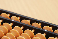 Close-up of classic abacus. On wood Royalty Free Stock Photos