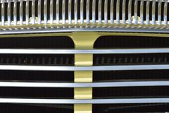 Close up of classic car radiator Royalty Free Stock Image