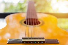 Close up of Classic guitar Stock Photo