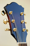 Close up classical guitar. Part of a classical guitar, close up Royalty Free Stock Photo